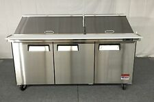 72 Sandwich Prep Table Unit 3 Door Mega Top Salad Prep 30 Pan 72 Cooler 6 New