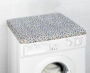 Waschmaschinenüberzug waschmaschinen rosen blau abdeckung