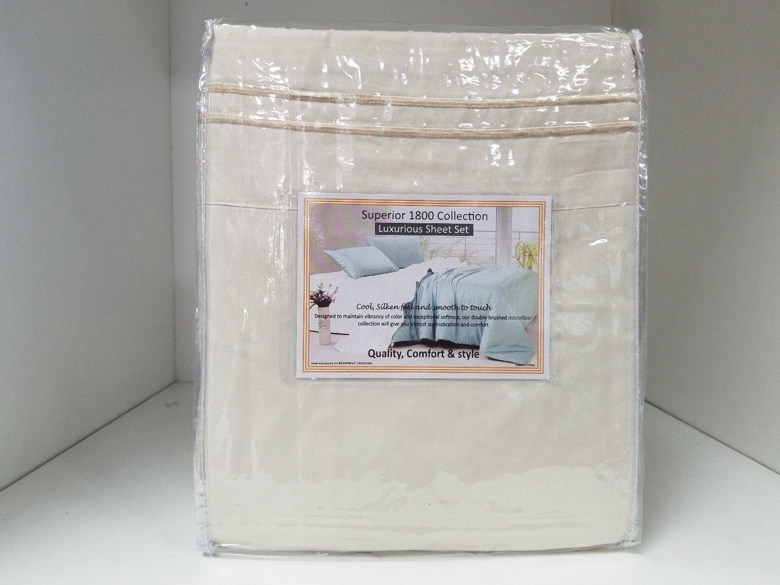 Microfiber Wood Frame Waterbed Sheet Set - Super Single 4 pillowcases - IVORY