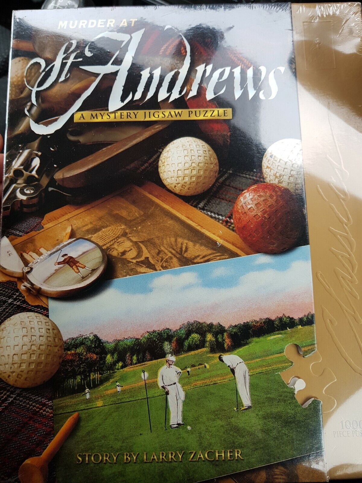 Murder At St Andrews 1000 piece Jigsaw Story by Larry Zacher Gifts for him