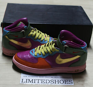 buy popular 36275 d6b1e Image is loading NIKE-AIR-FORCE-1-MID-ID-MULTI-COLOR-