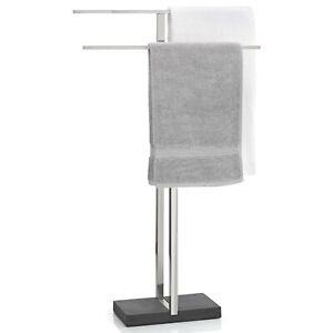 Blomus-Handtuchstaender-Menoto-Handtuchhalter-Edelstahl-matt-Polystone-68624