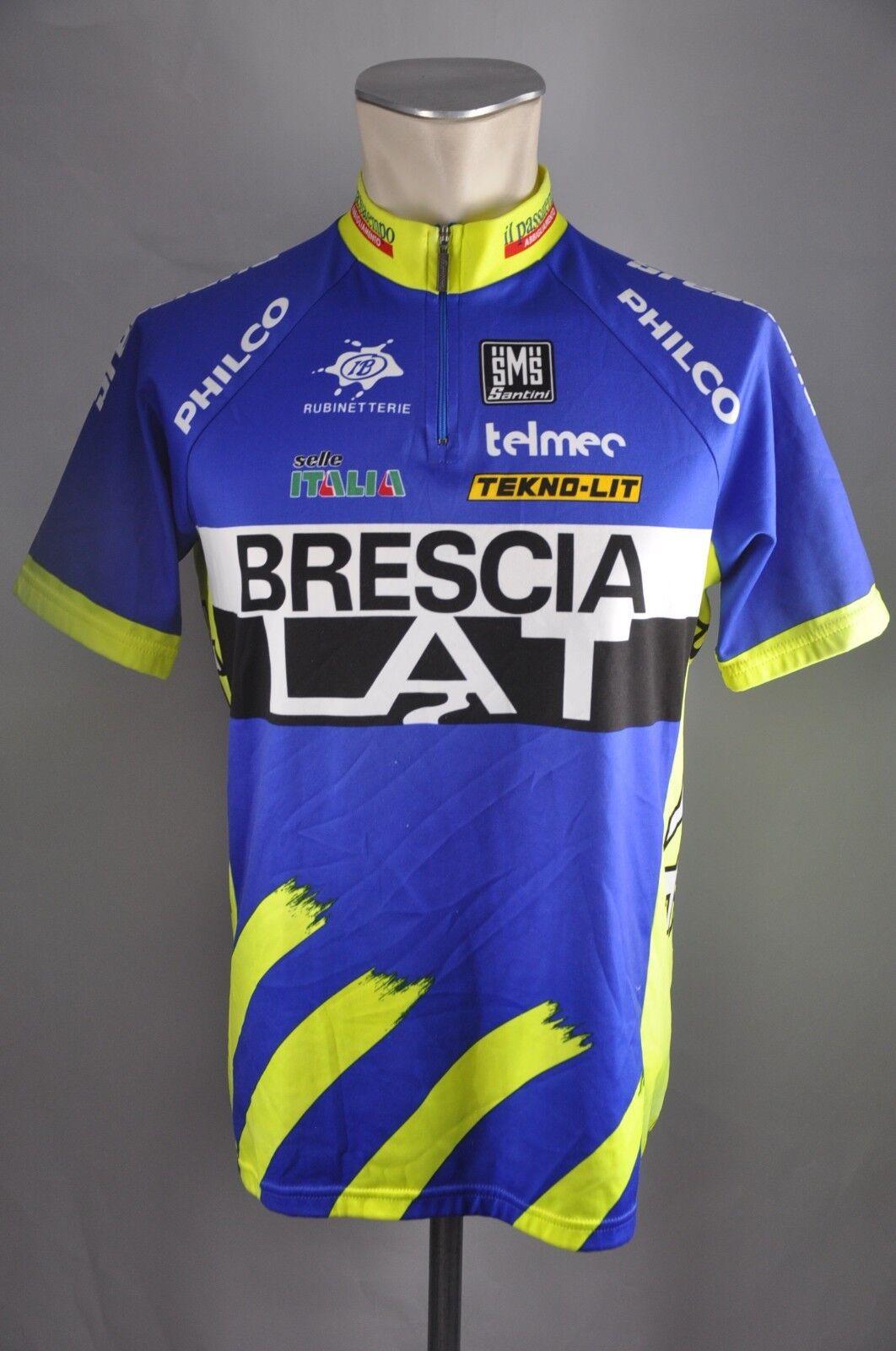 Santini Team Brescia LAT Trikot Gr. XL  BW 56cm cycling jersey Fahrrad KE5