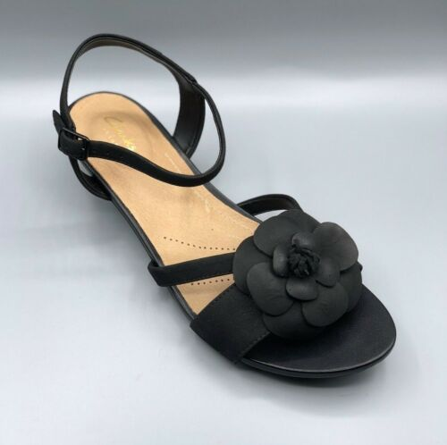 parram de E para negro sandalias cuero Uk Stella mujer Claruck 5 color nubuck en Nuevas 4xOTfw5f