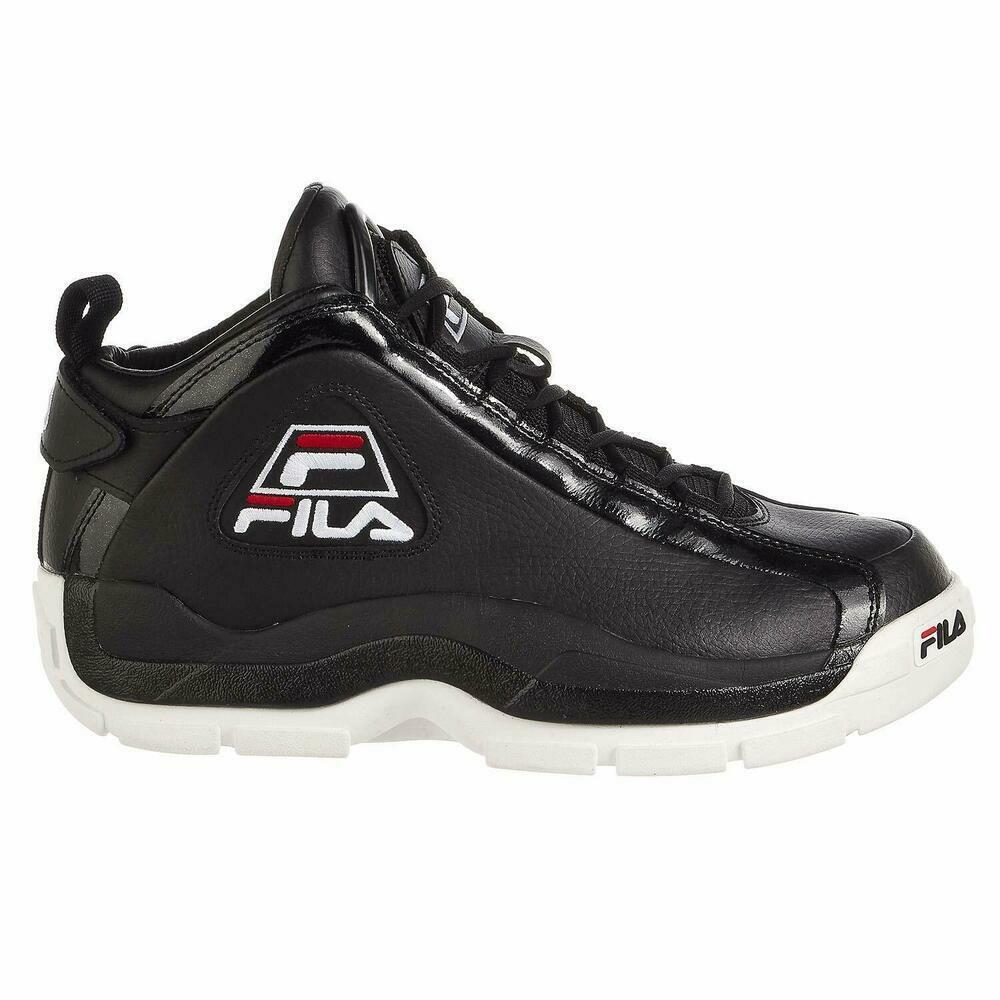 Fila men's 96 grant hill black white red shoes