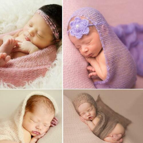 Newborn Baby Girl Boy Infant Wrap Bed Blanket Swaddle Cloth Photography Gift LA