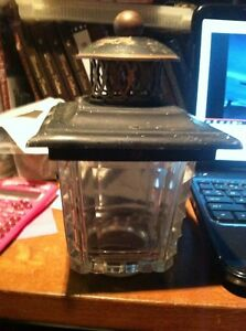 vintage copper glass outdoor lantern porch lamp glass cover gas