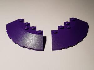 LEGO-2-x-95188-Dach-Stein-90-6-x-6-Viertelkreis-dunkel-lila-6211401-F63