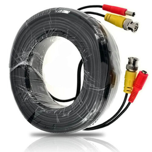 20m BNC DC CCTV Security Video Camera DVR Data Power RG59 Extension Cable