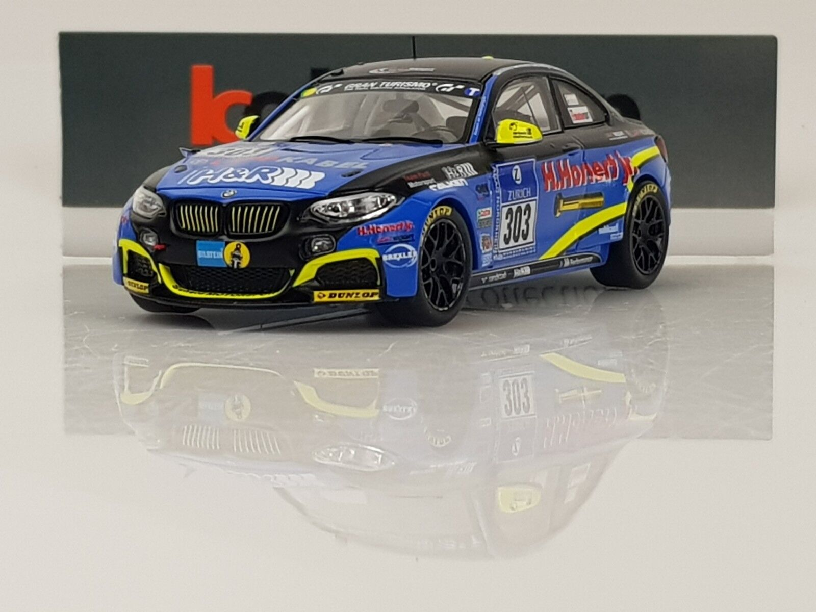 SPARK MAB029 BMW M235i Eifelblitz n°303 24H Nurburgring 2015 1.43 NB