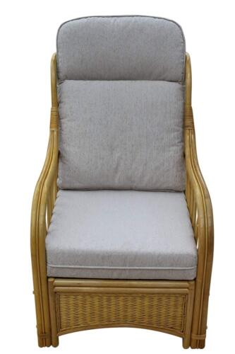 Sorrento Cane Conservatory Furniture -Single Chair - 'cream' Design Fabric 5055674038830