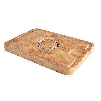 T&G Hevea End Grain Spiked Carving Board