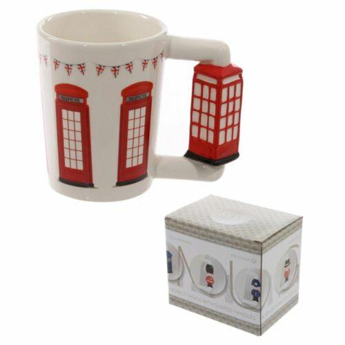 Shaped Handle Ceramic Mug Novelty Coffee Tea Cups Gift Boxed Home Office Decor