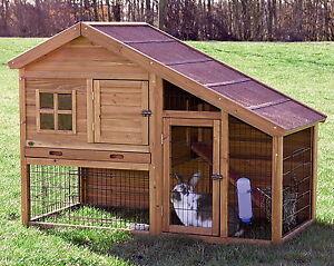 New large 2 two story rabbit hutch small animal enclosure - Casetta per conigli ...