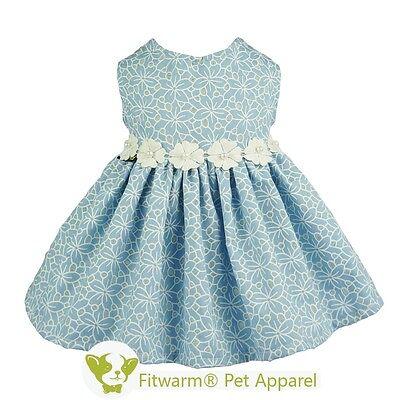 Fitwarm Princess Denim Dress Collection Pet Clothes for Dog Party Skirt Pup Vest