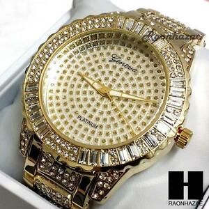 Hip hop glo gang iced out rapper gold finished lab diamond for Rapper watches