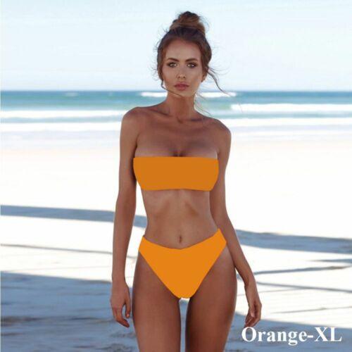 Summer Swimwear Bathing Push-up Bra Women Bikini Set Strapless Bandeau Swimsuit