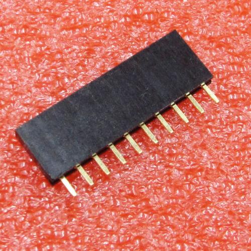 20PCS 1x10 Single Row 10 Pins PCB Socket Female Header 2.54mm