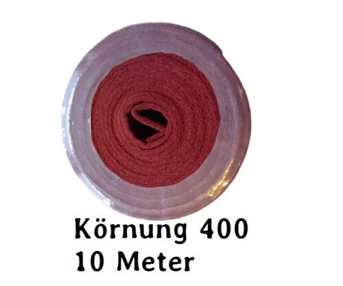 Schleifvlies schleifvliesrol le k400 rouge 10 M rôle NEUF