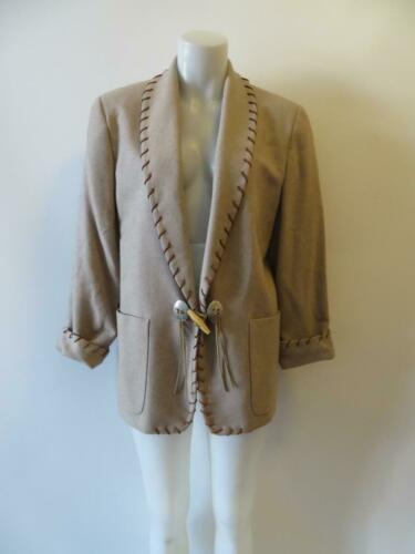 WOMENS BLOOMINGDALES TAUPE STITCHED DETAILS BLAZER