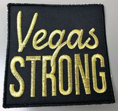 VEGAS STRONG BLACK AND GOLD SEW ON PATCH