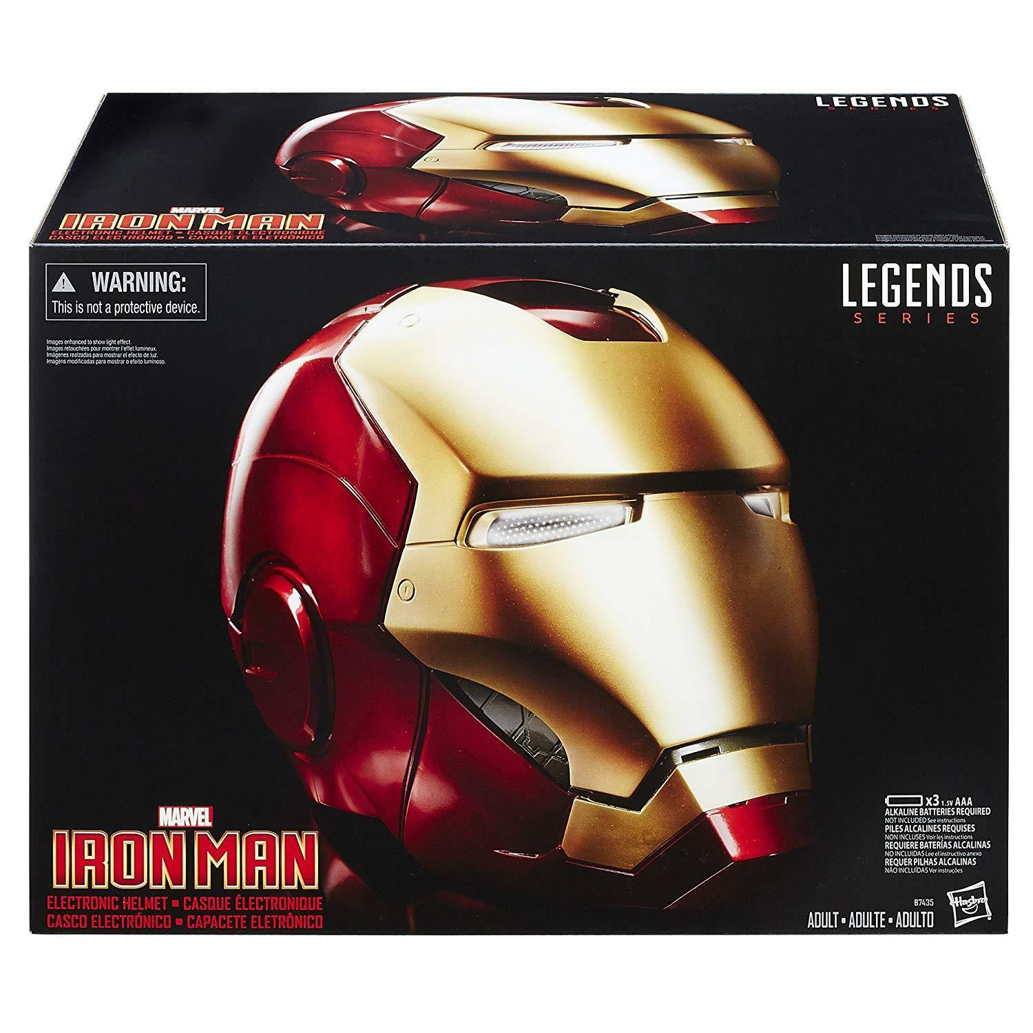 Avengers Marvel Legends Gear Iron Man Replica Electronic Helmet [Toys Lights Up]