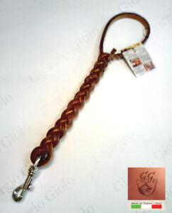 Manigliotto-treccia-cuoio-per-cani-guinzaglio-Handle-leather-dog-leash-Italy