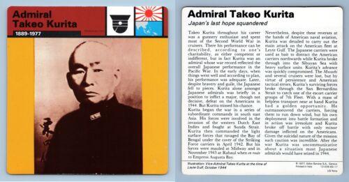 Adm WW2 Edito-Service SA 1977 Card Personalities Takeo Kurita