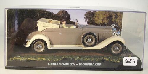 Moonraker in O-Box #5685 James Bond 007 Collection 1//43 Hispano Suiza