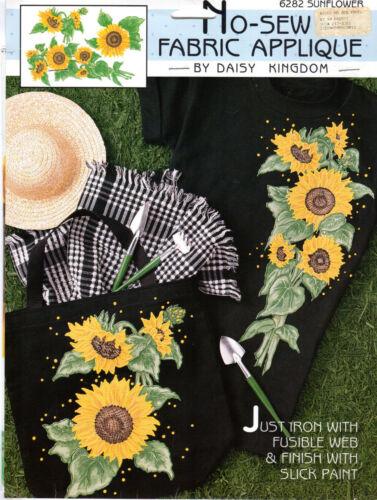 "NEW Daisy Kingdom No-Sew Fabric Applique # 6282 /""Sunflower/"" Full Color"