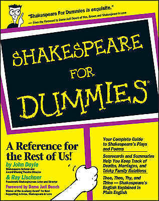 1 of 1 - Shakespeare for Dummies-ExLibrary