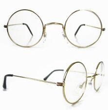 71f6f2f2e4 Hippie Glasses ROUND Lens Santa 60 s Vintage John Lennon Style Clear Lenses