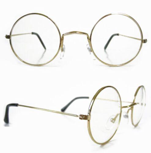 Hippie Glasses ROUND Lens Santa 60/'s Vintage John Lennon Style Clear Lenses