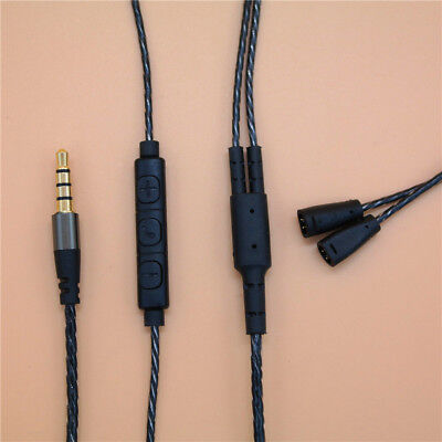 With Remote Mic Replacement Cable for iphone to Sennheiser IE8 IE 80 Headphone