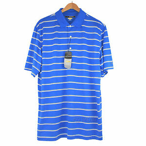 230c84ea NWT Greg Norman Play Dry Moisture Wicking Royal Blue with Stripes ...