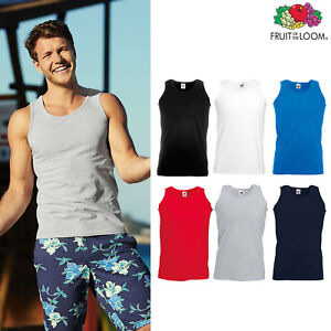 Tank Top Fruit Of The Loom Mens Athletic Sleeveless Vest