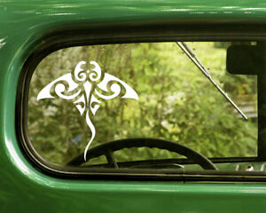 2-TRIBAL-MANTA-RAY-DECAL-Stingray-Stickers-For-Car-Window-Truck-Bumper-Laptop