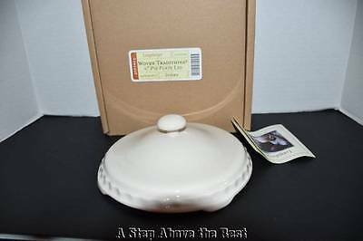 """Longaberger Woven Traditions 6/"""" Pie Plate LID in Ivory #3233490 NIB"""