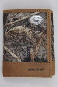 ZEP-PRO  Southern Mississippi  Fence Row Camo Leather Trifold Wallet Tin Box