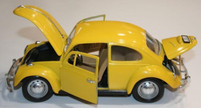 1967 Volkswagen Beetle - Yellow 1:18 Scale | Road Legends Die Cast Metal- As Is