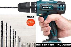 MYLEK-18V-Cordless-Drill-Driver-13-Piece-Combi-Accessory-Kit-NO-BATTERY
