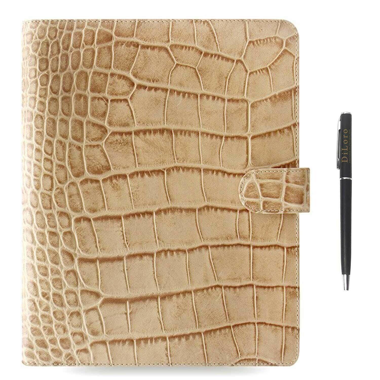 Filofax Classic Croc A5 Size Organizer//Planner Fuchsia Leather 026075 Brand New