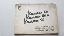 Piaggio Vespa 50 S 90 1963 catalogo ricambi pieghevole originale parts catalogue
