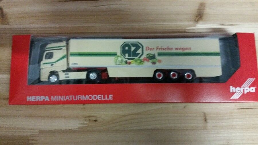 Herpa 306546 - 1 87 MB Actros Gigaspace Kühlkoffer-semi-remorque-AZ CAMPINE-Neuf