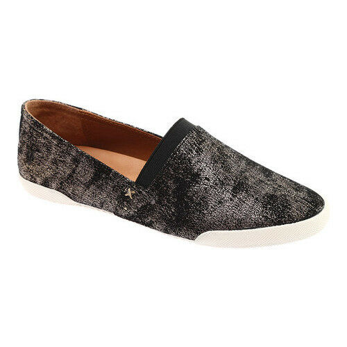 NWOB FRYE Melanie Metallic Leather Slip On Shoes 71254 Gunmetal Size 8M