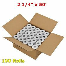 100 Roll 2 14 X 50 Thermal Receipt Paper Pos Cash Register For Verifone Vx520