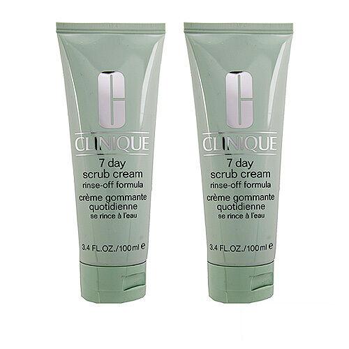 2 PCS Clinique 7 Day Scrub Cream (Rinse-Off Formula) 100ml x2= 200ml #2598_2