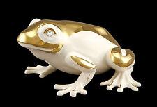 Keramik Frosch - Glücksbringer - Vergoldet mit Swarovski Kristallen