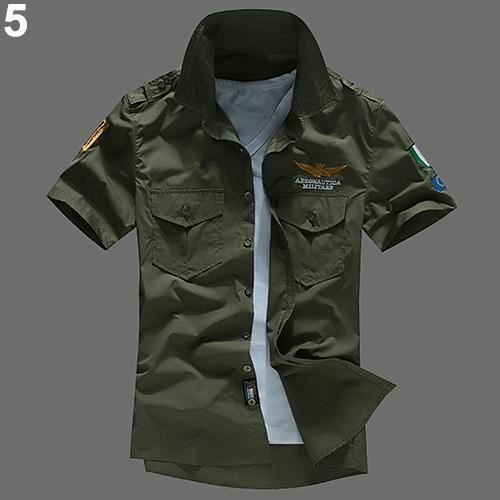 Casual Wear Short Sleeve New Style Cotton Fabric Embroidery Shirt for Men