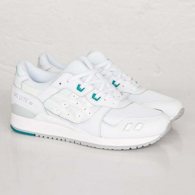 ASICS Gel-Lyte III H5B4N-0101 White Rare Rare Rare size 4.5 new 100% Authentic 67778a